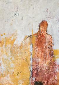 100 x 70 cm, technique mixte sur papier marouflé sur toile.