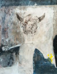 65 x 50 cm, papier marouflé sur toile, technique mixte