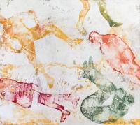 31 x 35 cm, technique mixte sur papier