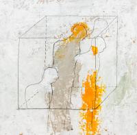 30 x 30 cm, papier marouflé sur toile