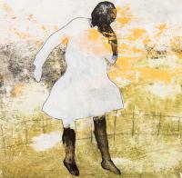 22 x 23 cm, technique mixte sur papier marouflé sur bois
