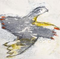 20 x 20 cm, technique mixte sur papier marouflé sur toile
