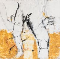 35 x 35 cm, technique mixte sur papier marouflé sur toile