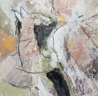30 x 30 cm, technique mixte sur papier marouflé sur toile