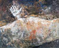 54 x 65 cm, technique mixte sur papier marouflé sur toile