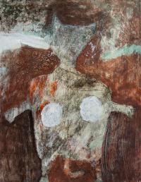 65 x 50 cm, technique mixte sur papier marouflé sur toile