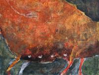 50 x 65 cm, technique mixte sur papier marouflé sur toile