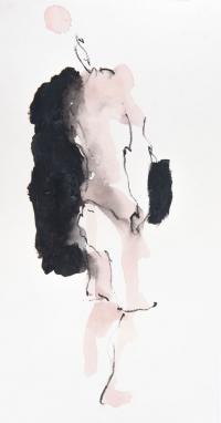 40 x 20 cm, gouache, crayon sur papier